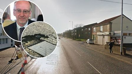 Chris Goulding has been left feeling lucky after he nearly came off his bike when he hit a pothole o