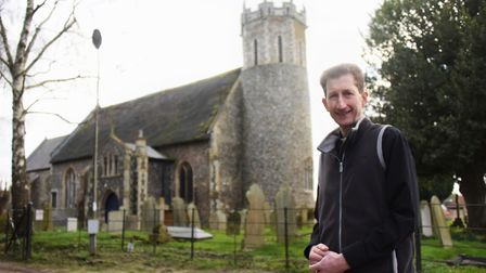 Rector Rev Martin Greenland at Acle St Edmunds Church. Picture: DENISE BRADLEY