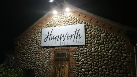 Food at The Hunworth Bell in north Norfolk. Pictured is the restaurant during the evening. Picture: