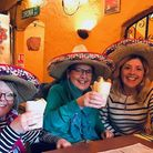 Bucket list goal: Mum Kate Hannant (centre) wanted to go to Mexico.That wasn't possible so sisters A
