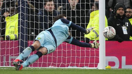 Tim Krul saves Troy Parrott's spot-kick during the penalty shoot-out. Will you have similar success?