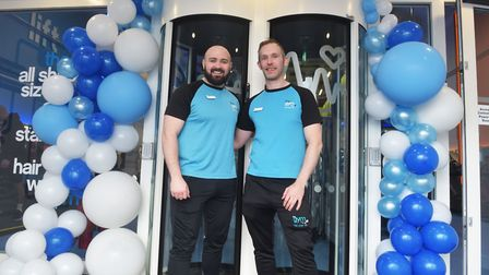 New Gym officially opens Gym Group, Gateway Retail Park, Tower Road, Pakefield Managers Jesse and Ja