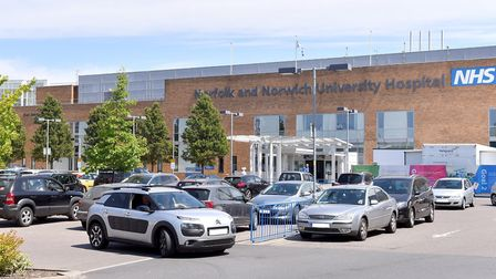 One person has tested positive for coronavirus at the Norfolk and Norwich University Hospital. Pictu