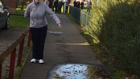 Rose Knight said nearby pathways were also unsafe, with puddles and fallen branches all across the g