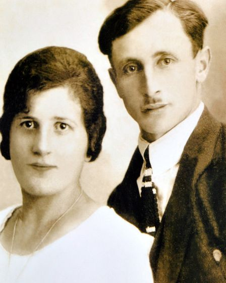 Joe Stirling will be one of the real life books at the Human Library event.copy pic of his parents.p