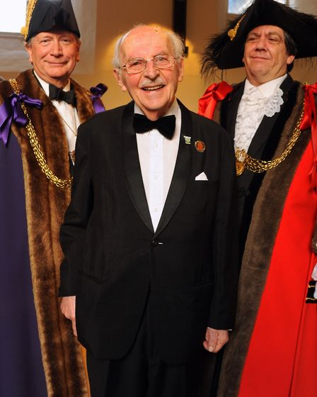 Joe Stirling gave a talk at the Norwich Civic Association's St George's dinner, held at the Great Ho