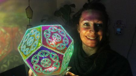 Amber Stefani from Lingwood creates unique light art and is exhibiting at the Love Light festival. P