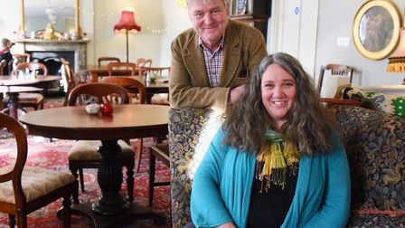 Owners and directors, Rebecca and David Lysaght, at the Shambles café, bar and bistro, North Walsham