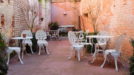 The courtyard at the Shambles café, bar and bistro, North Walsham. Picture: DENISE BRADLEY