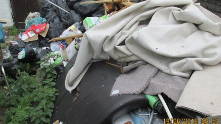 An accumulation of waste was ordered to be cleared from outside Margaret Stevenson's Grosvenor Road