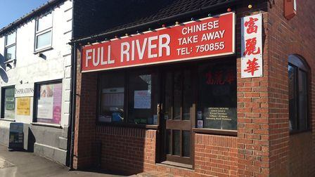 The Full River Chinese Takeaway in Acle is shut while two of its staff are in voluntary quarantine a