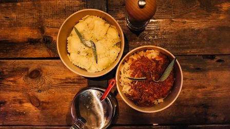 There is a choice of fresh pasta or ravioli with a range of sauces at Pasta Fresca Credit: James Ran