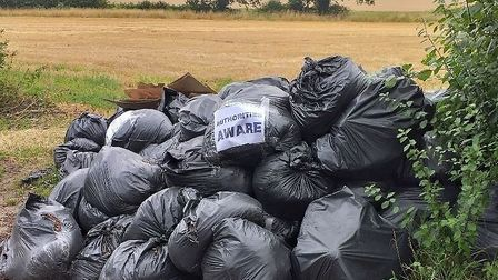 Major fly-tipping is becoming increasingly common across many local councils. Picture: East Suffolk