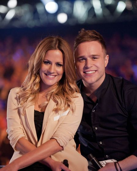 Caroline Flack and Olly Murs presented X Factor together. Picture: Ken McKay
