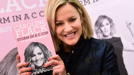 Caroline Flack at her book signing in Norwich in 2015. Picture: Denise Bradley