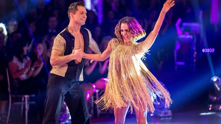 Pasha Kovalev and Caroline Flack wowing the judges on Strictly Come Dancing in 2014. Picture: Guy Le