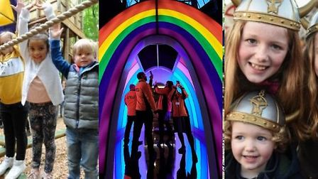 There are plenty of events to keep children of all ages entertained over half term Credit: L-R Jamie