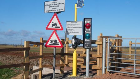 A new user-worked crossing at Acle Marshes. Picture: Network Rail.
