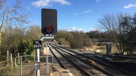 A new signal at Acle Station. Picture: Network Rail.