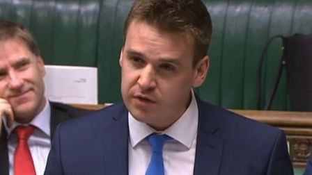 Tom Hunt, Ipswich Tory MP, believes Norfolk and Suffolk should have a single, elected mayor. Picture