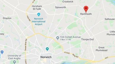 Rackheath is located within the Norwich Policy Area Growth Triangle. Picture: Google Maps