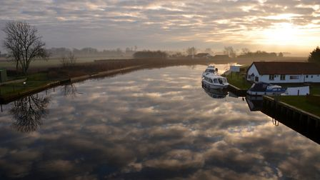 The River Bure at Acle. Jerome Mayhew's constituency, Broadland, covers a swathe of Norfolk from Acl