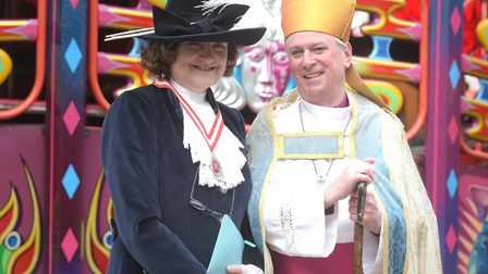 High Sheriff of Norfolk Lady Agnew and Bishop of Lynn Jonathan Meyrick Picture: SARAH LUCY BROWN