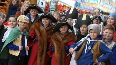 Children fromHolly Meadows Primary School took part in the procession Picture: SARAH LUCY BROWN