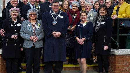 Officials and dignitaries at the official opening of Hunstanton Heritage Centre. Picture: Chris Bish