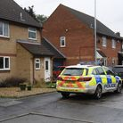 Police in Highfields in Costessey. Picture: DENISE BRADLEY.