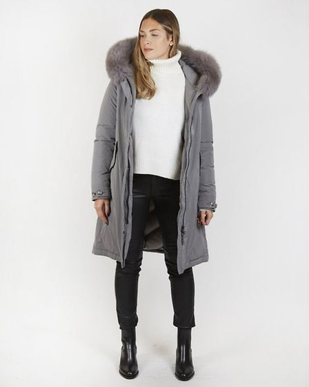 Designer brand Woolrich has this parka with a rabbit fur trim, for sale for £1,020 at Ginger. Woolri