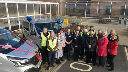 Some of the staff, organisers and volunteers from the Volunteer Drivers Scheme at the Norfolk and No