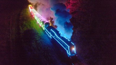 The Norfolk Lights Express, which runs between Sheringham and Holt, returns this Christmas Credit: N