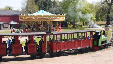 There are four trains to ride at Bressingham Steam and Gardens Credit: Denise Bradley