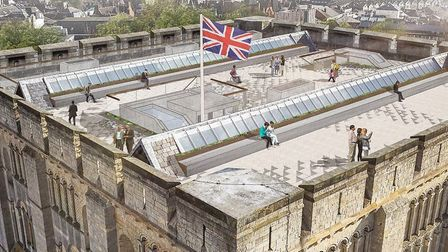 How Norwich Castle's battlements might look after the castle keep project. Photo: Feilden + Mawson