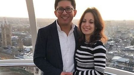 Gabriel and Susanna got enagaged on the London Eye on February 20. Picture: Stewart Hull