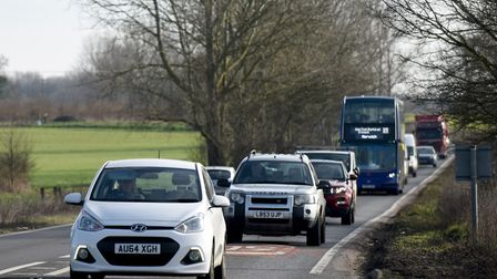 The A47 between Blofield and North Burlingham. Pic: Highways England.