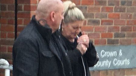 Jason Staff (left) leaving Norwich Magistrates Court. PIC: Peter Walsh.