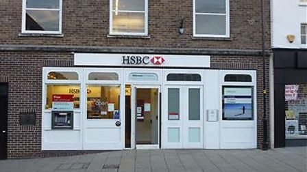 HSBC in Thetford will close later this year. Pic: Archant