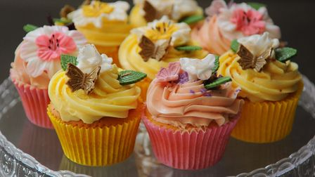 Cupcakes at the Crusty Corner Bakery, a local craft bakery using traditional methods. Picture: DENIS