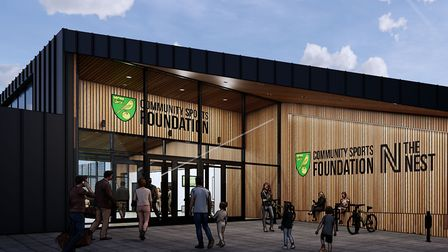 Visuals of phase two of The Nest community sports hub where parts of the Positive Futures programme