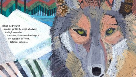 Wild Wolf by Fiona French published by Otter-Barry Books