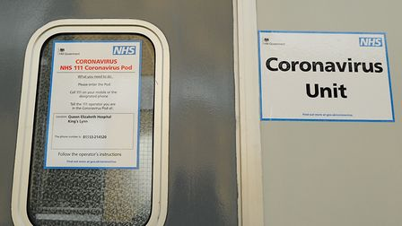 The coronavirus unit which has been installed at the Queen Elizabth Hospital in King's Lynn Picture
