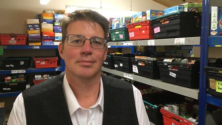 Waveney Foodbank operations manager Matthew Scade is appealing for donations over fears it could run