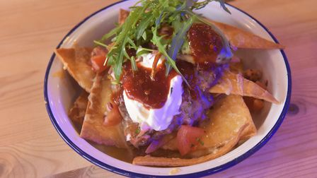 New Cafe Coast Kitchen Cafe has opened in Waxham next to Waxham Barn. Nachos. Pictures: BRITTANY WOO