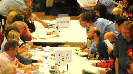 A Norwich City Council election count at St.Andrews Hall in Norwich. Pic: Adrian Judd.
