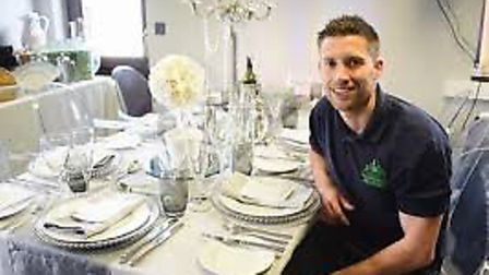 David Robinson, who heads up the Banqueting Hire Service. Pic: Archant