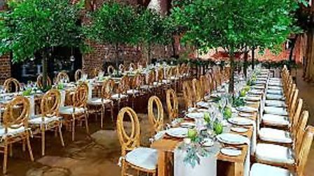 The Banqueting Hire Service provides furniture, crockery and kitchen equipment for major events like