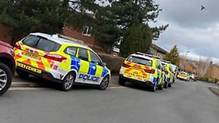 Police on the scene of an incident in Jay Gardens, Chapel Break, near Bowthorpe. Picture: Supplied
