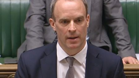 Foreign secretary Dominic Raab speaking in the House of Commons in London, where he told MP that the